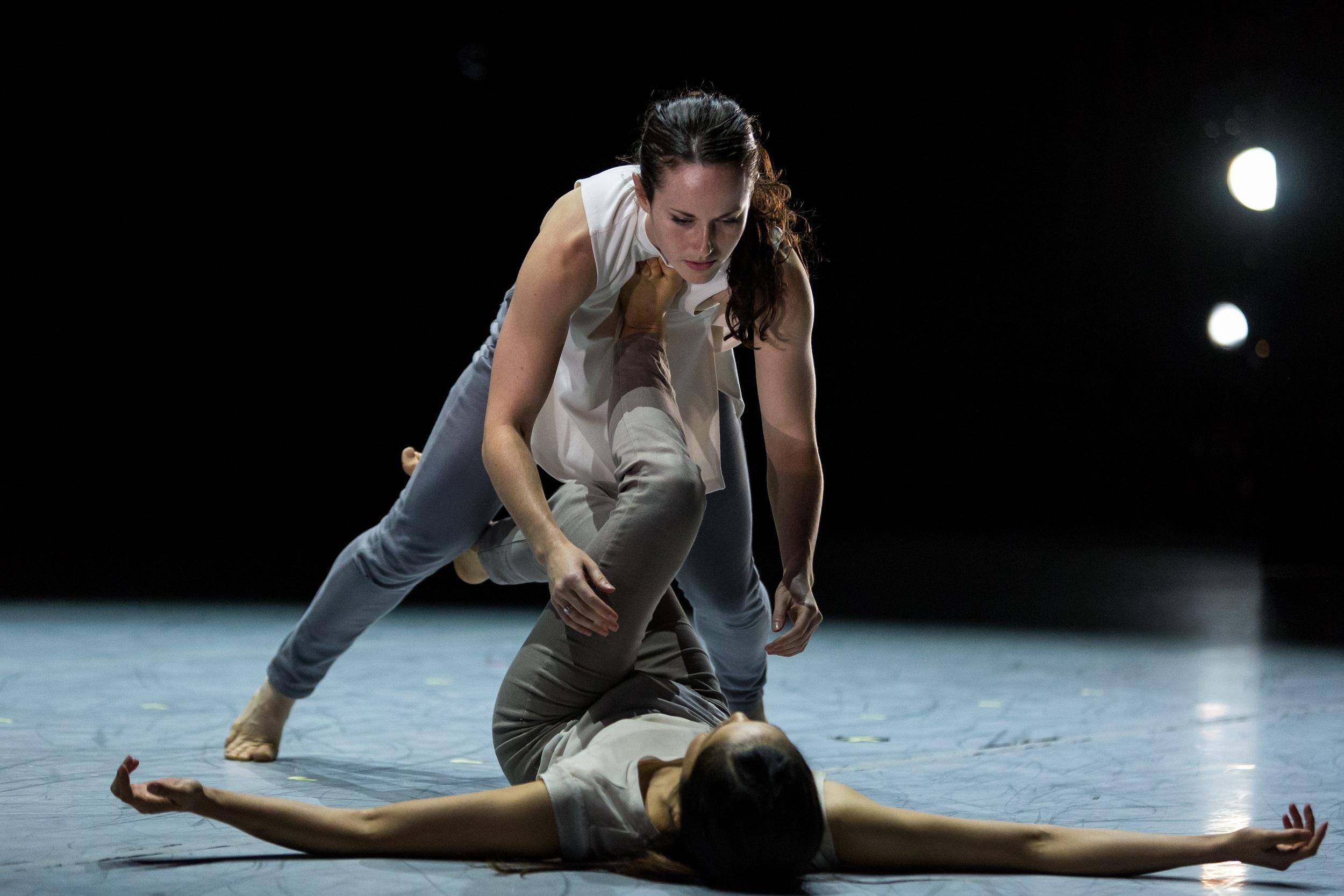 Yu Kondo and Michaela Burns of LEVYdance. photo Alex Reneff-Olson
