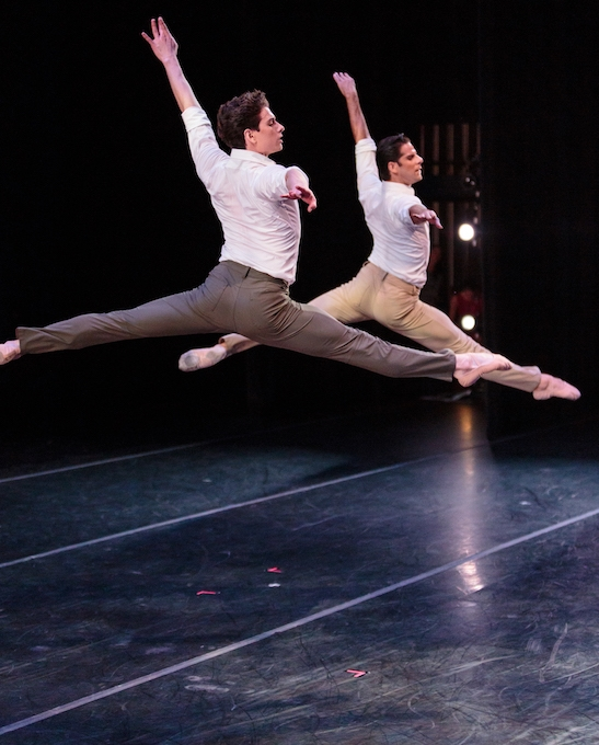 Marcelo Gomes of American Ballet Theater and Sterling Baca of Pennsylvania Ballet in Gomes'  Tristesse .photo: Alex Reneff-Olson