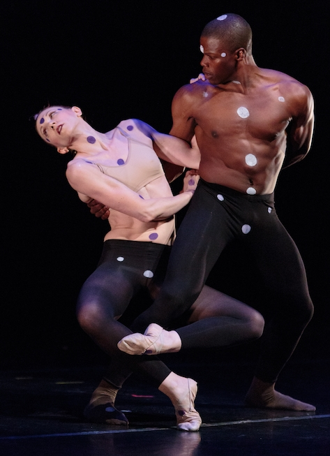 Marlon Taylor-Wiles and Emily Wagner of Flying Under the Radar, in Taylor-Wiles' world premiere  @_Futr_ .photo: Alex Reneff-Olson