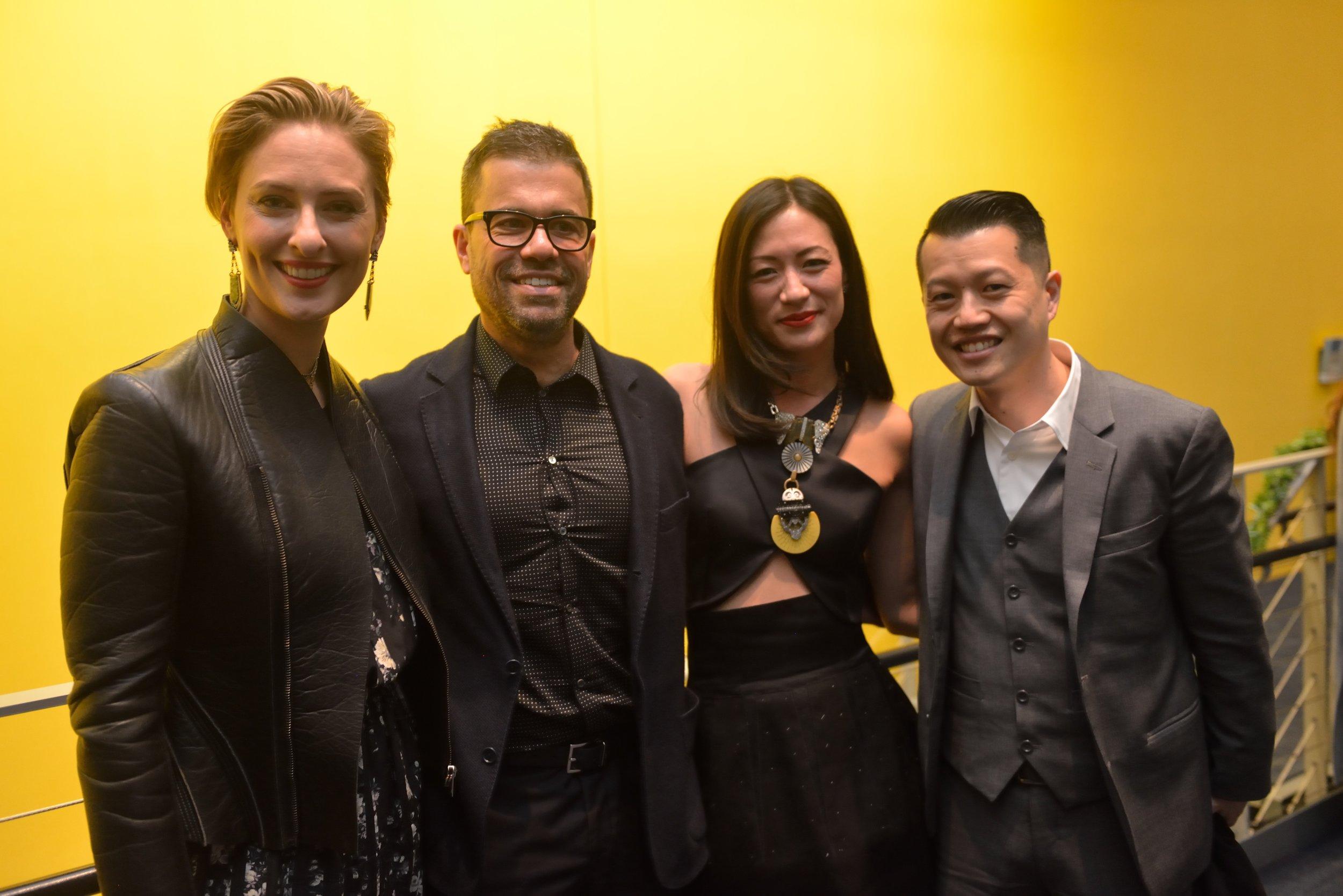 Lisa Salzer, Marco Pessoa, Lesley Hu, Francis Hsang. photo: Mike Lee