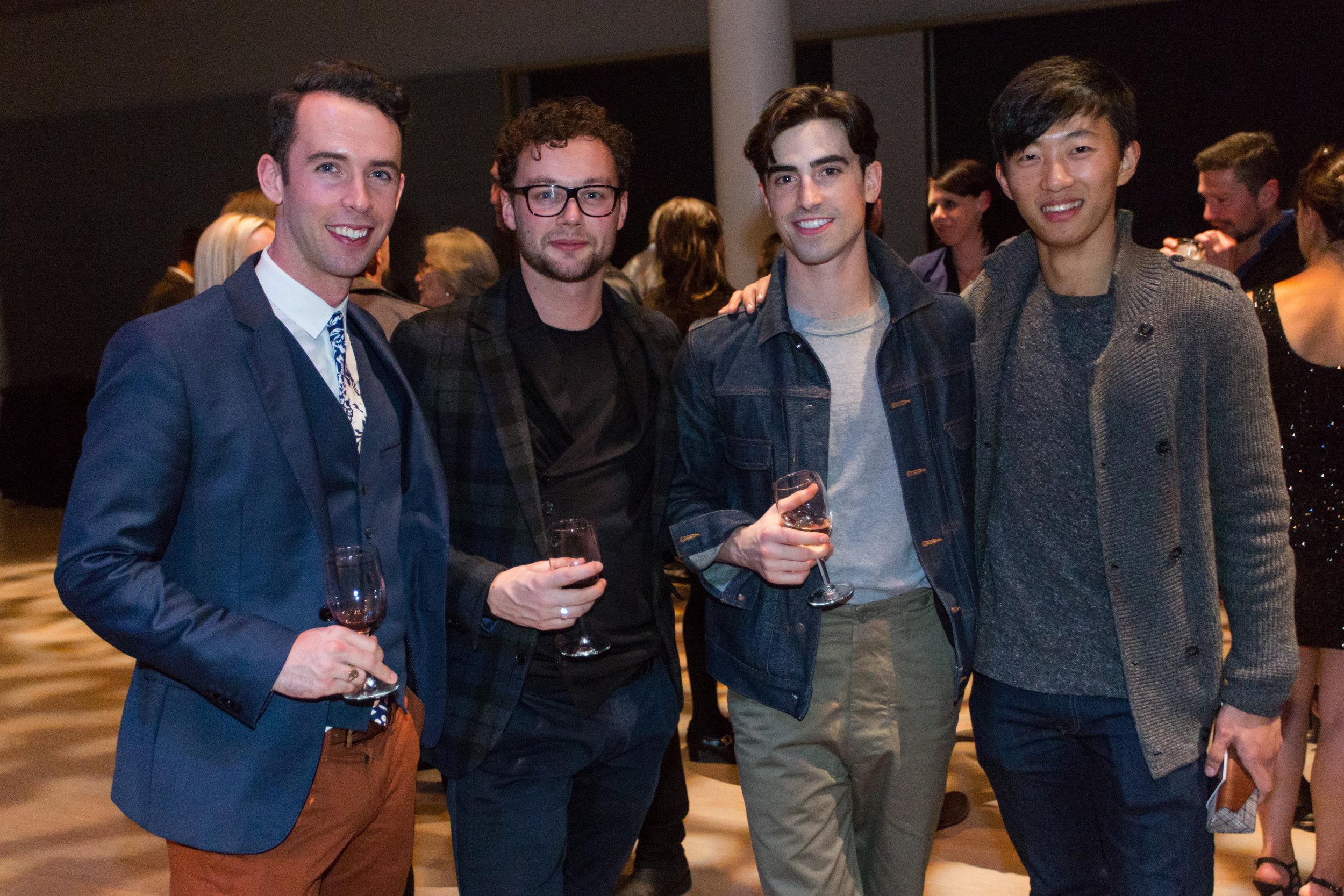 Ben Needham-Wood, Liam Scarlett, Joseph Walsh, Wei Wang.photo: Alex Reneff-Olson