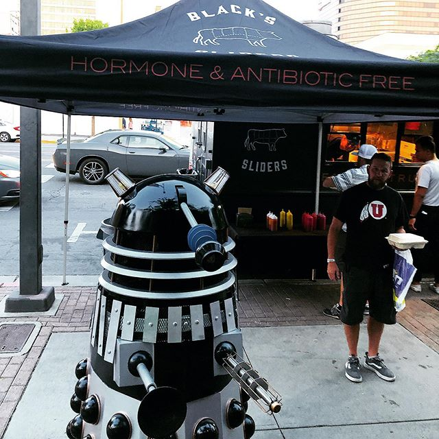 Even robots love our sliders! #fanx2019 #blackssliders #salt palace #foodtruckleague #utahfoodtrucks