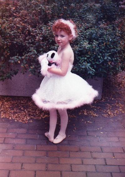 "A 5 year-old Lindsay in her first dance recital ever, entitled ""Teddy Bear Hug""."