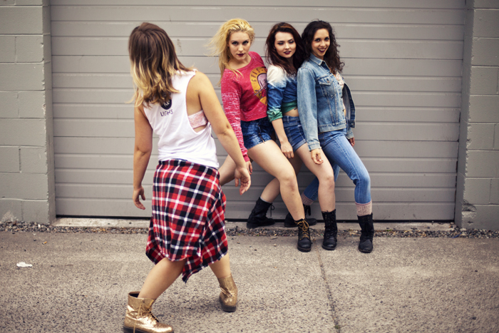 Holly Logan directs dancers Caitlin Schafte, Samantha Weissbach, & Ciara McCormack during Intrepidus' second season photoshoot. Photo courtesy of  S. Weissbach Photography  (& CarliAnn Forthun.)