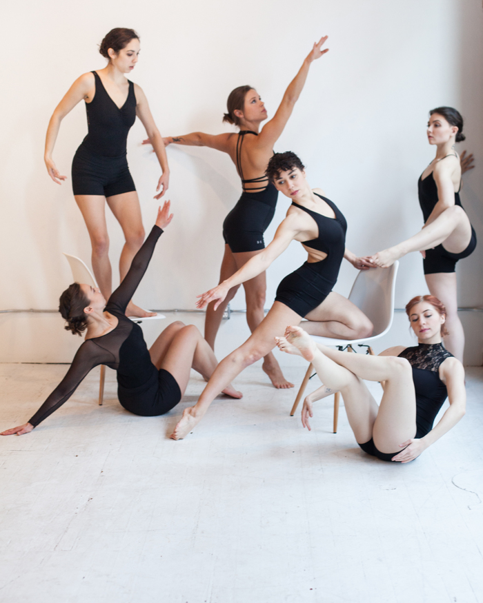 Intrepidus dancers (clockwise from top left) Ciara McCormack Greenwalt, Heather Smith, MacKenzie Blue Tapia, Samantha Weissbach, Elise Landles, & Katie Borthwick. Photo courtesy of S. Weissbach Photography.