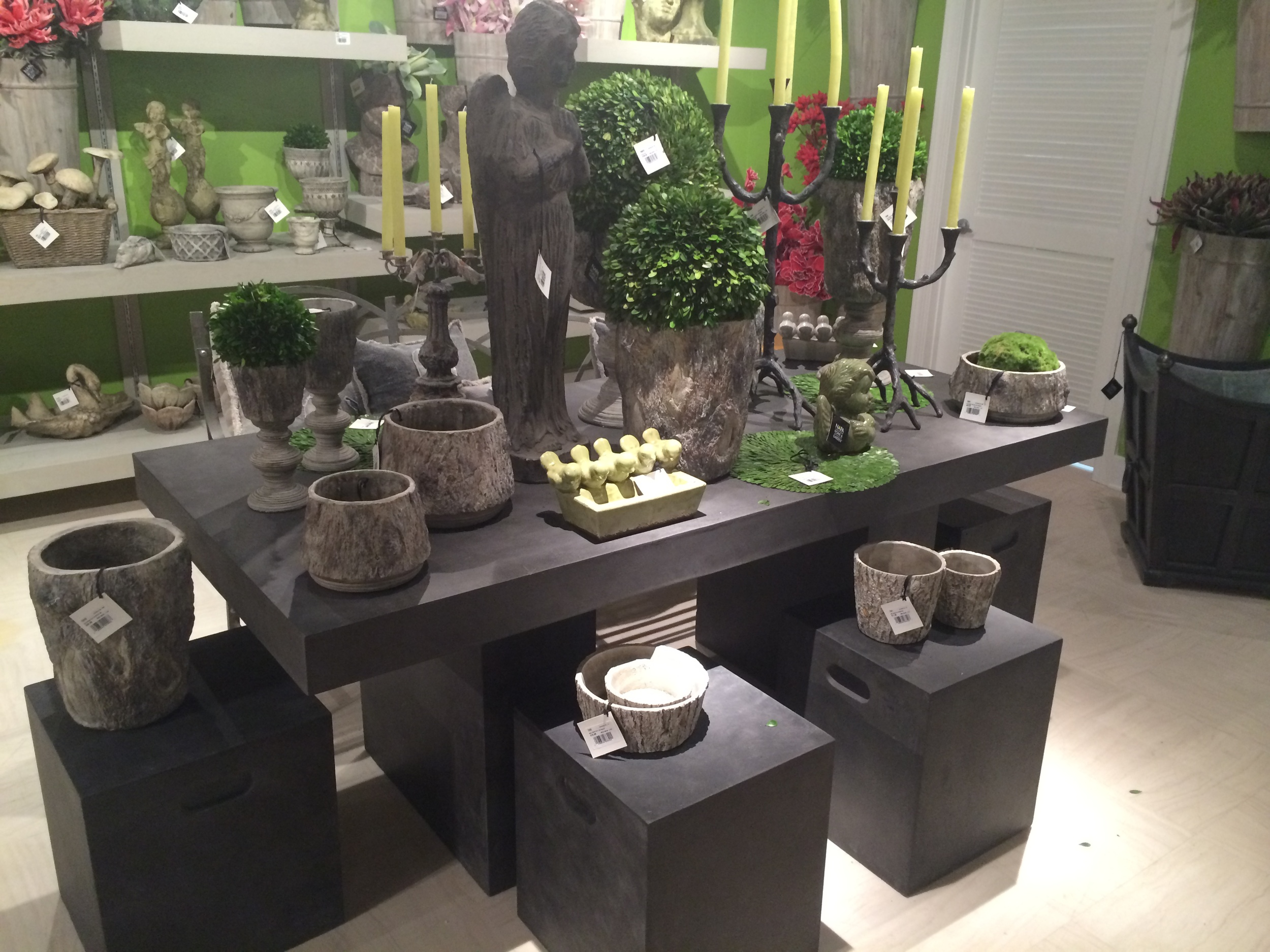 Faux Cement Table Setting