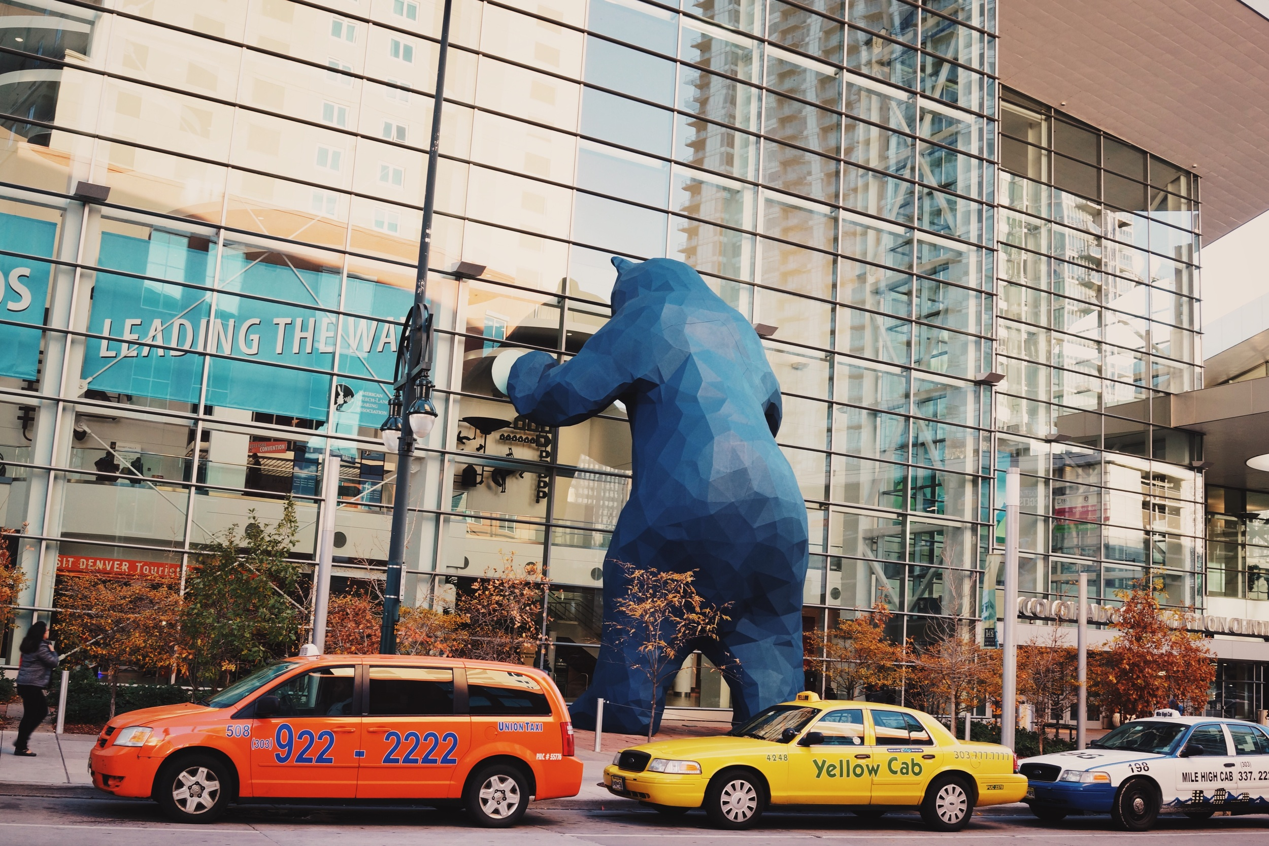 This blue bear served as a frequent reference point for me when trying to navigate the Denver convention center at #ASHA15.