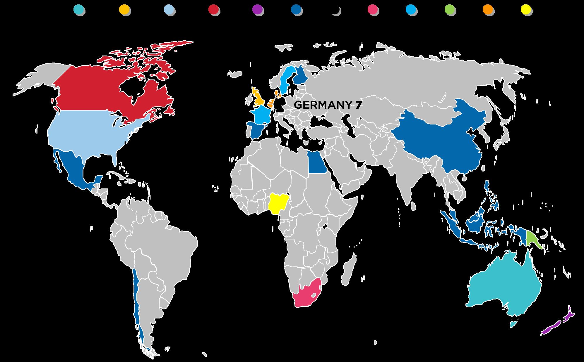 GLOBAL DISTRIBUTION OF CAUDIT HE EA REFERENCE MODELS