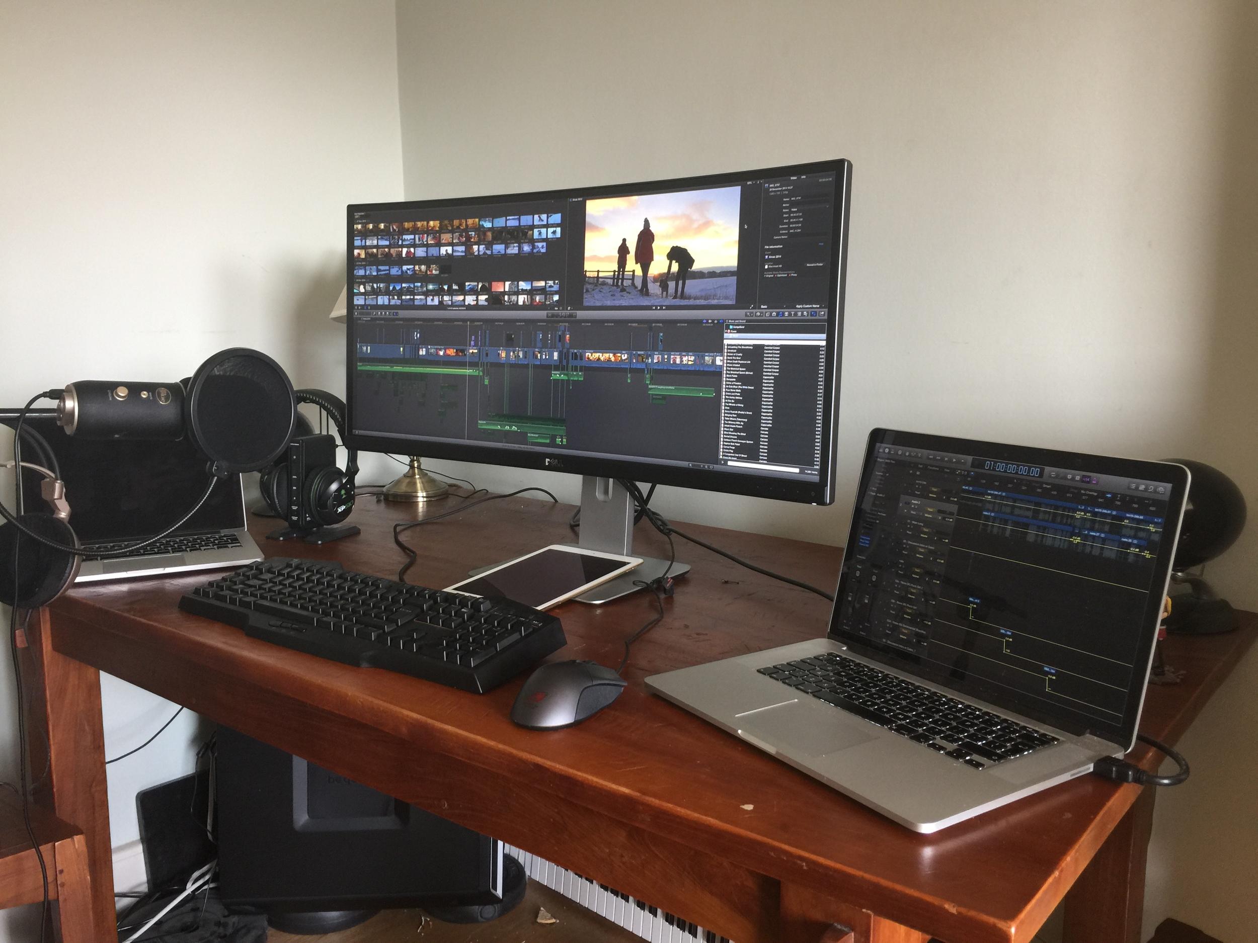 My editing and gaming setup