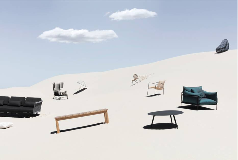 Belle  magazine outdoor furniture shoot. Image Felix Forest.