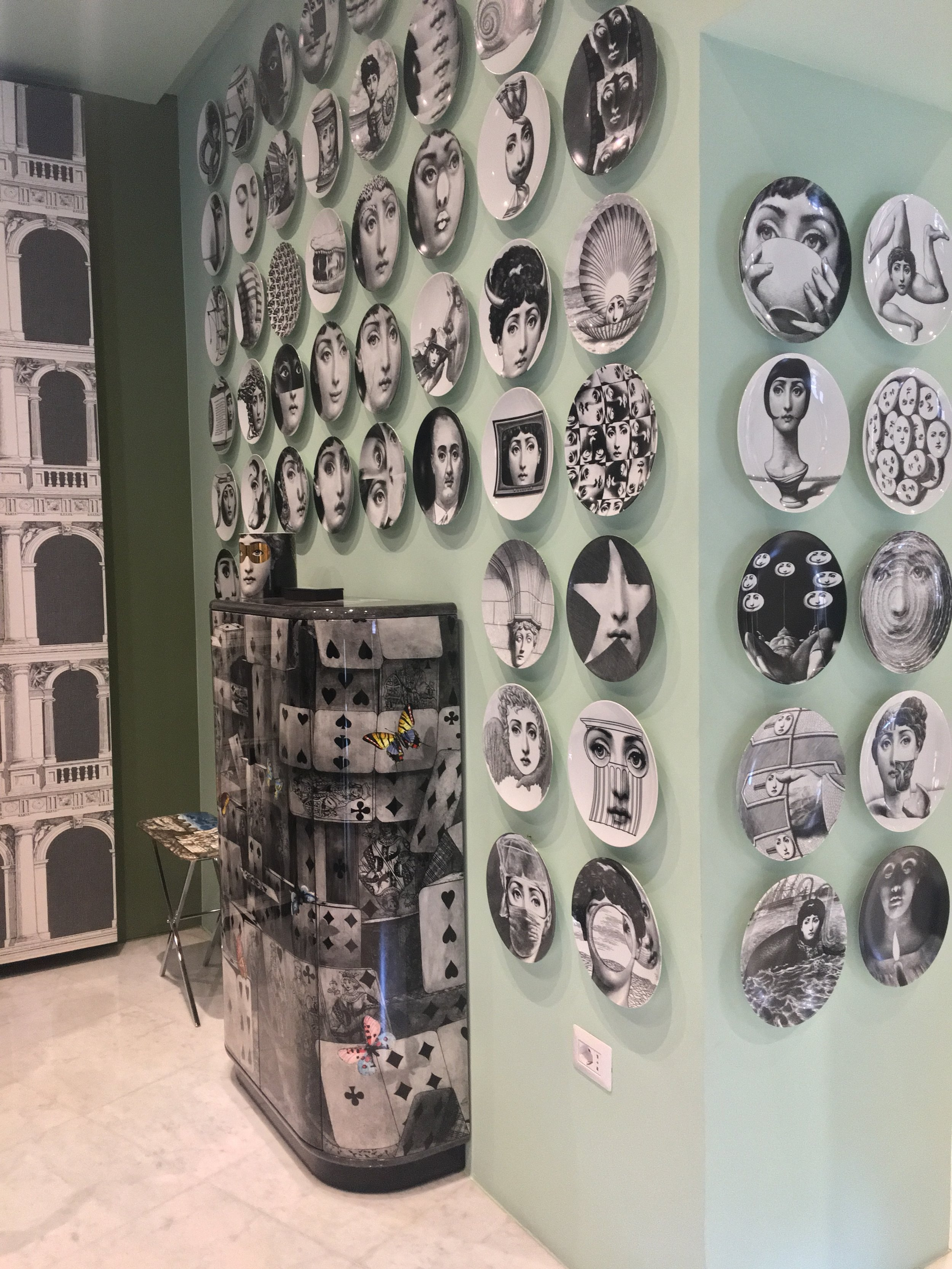 Fornasetti goodness in store.