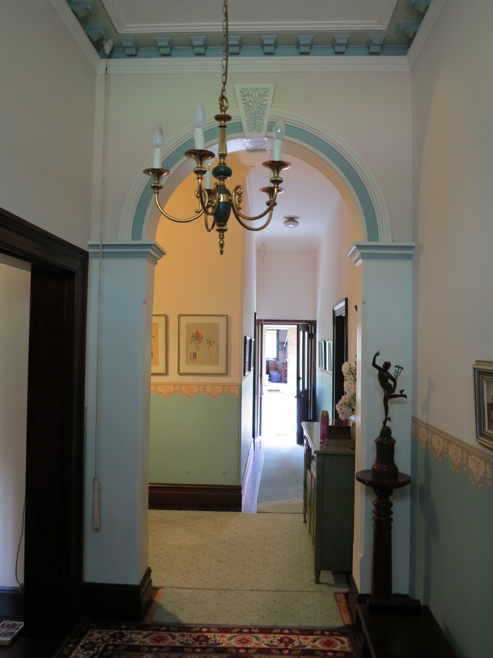 The foyer. Before.