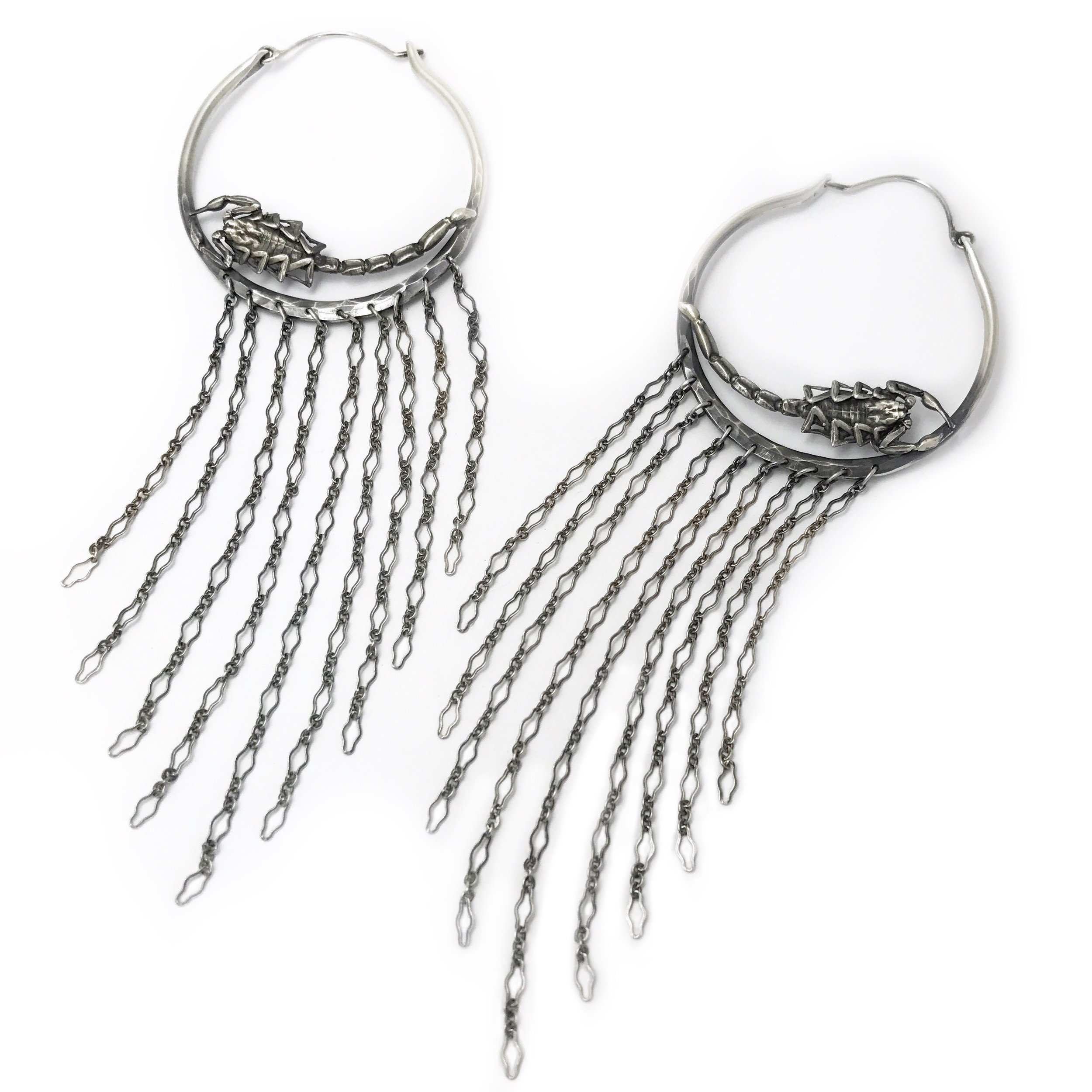 Scorpion Fringe Hoops