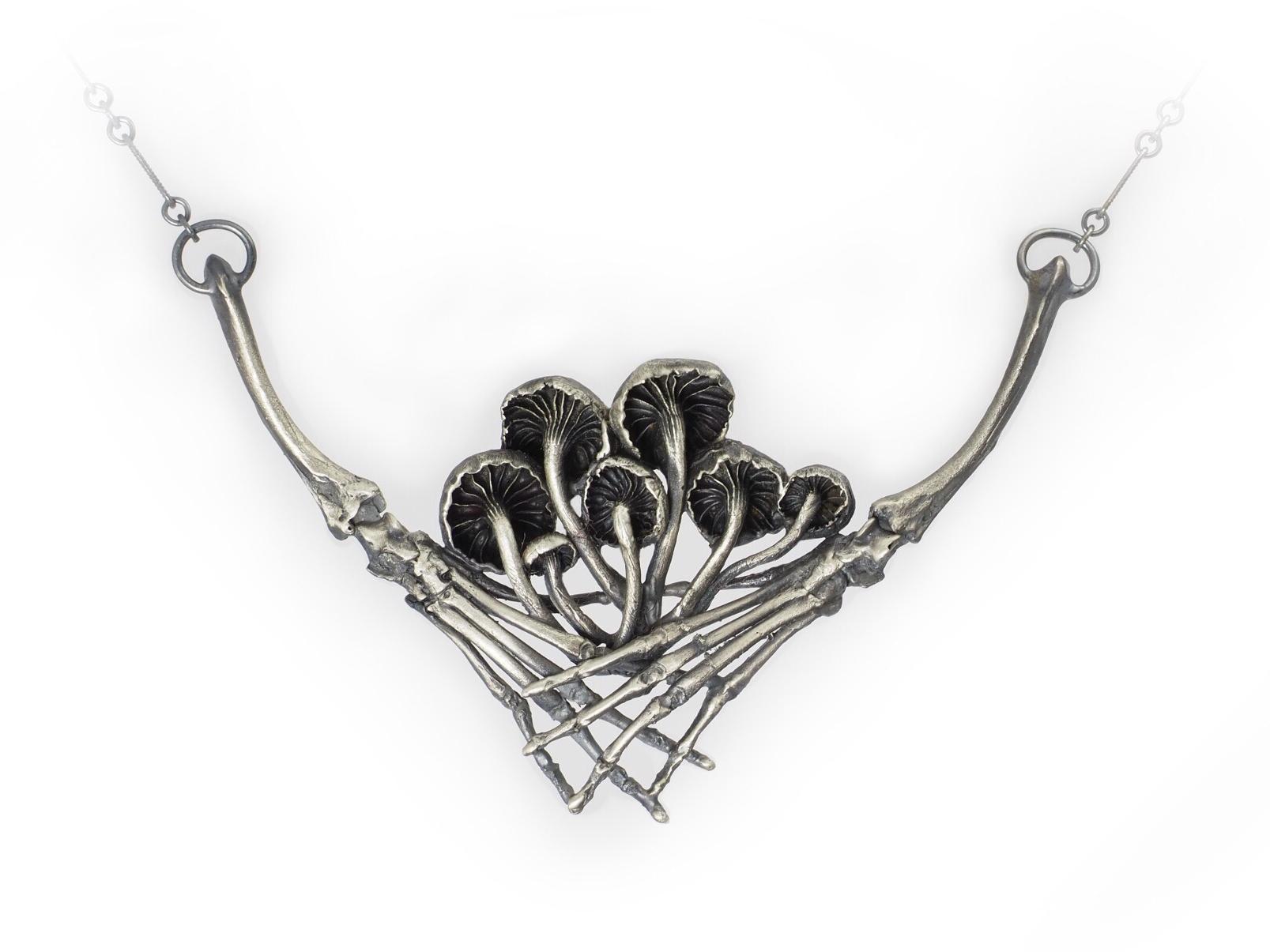 Mushroom Harvester  Necklace