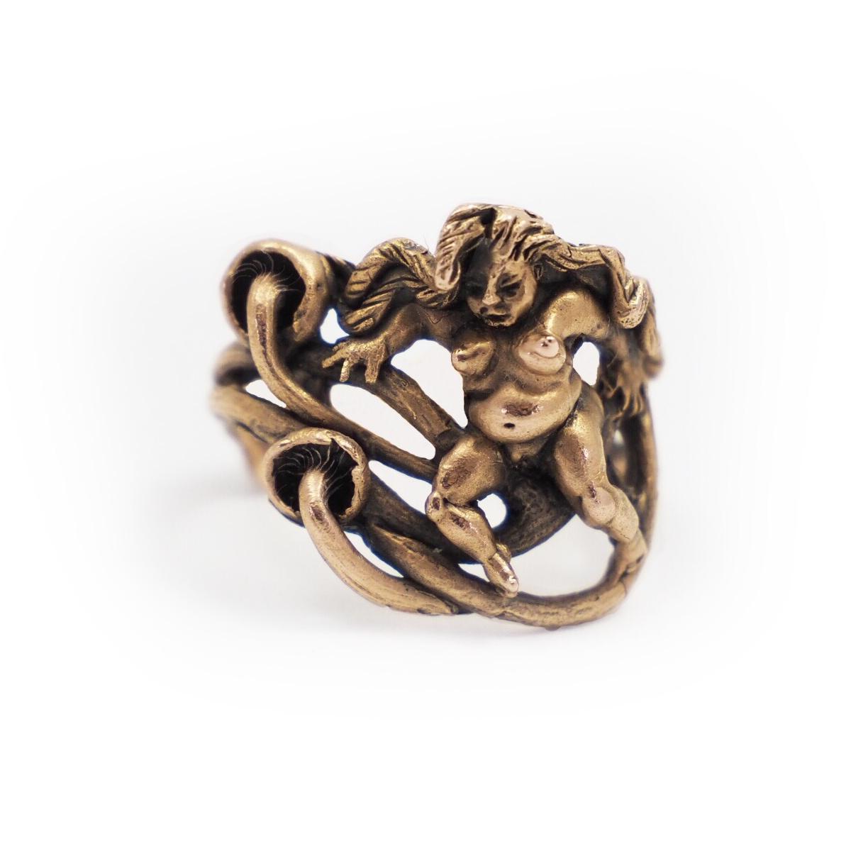 Mushroom Nudie Ring Gold
