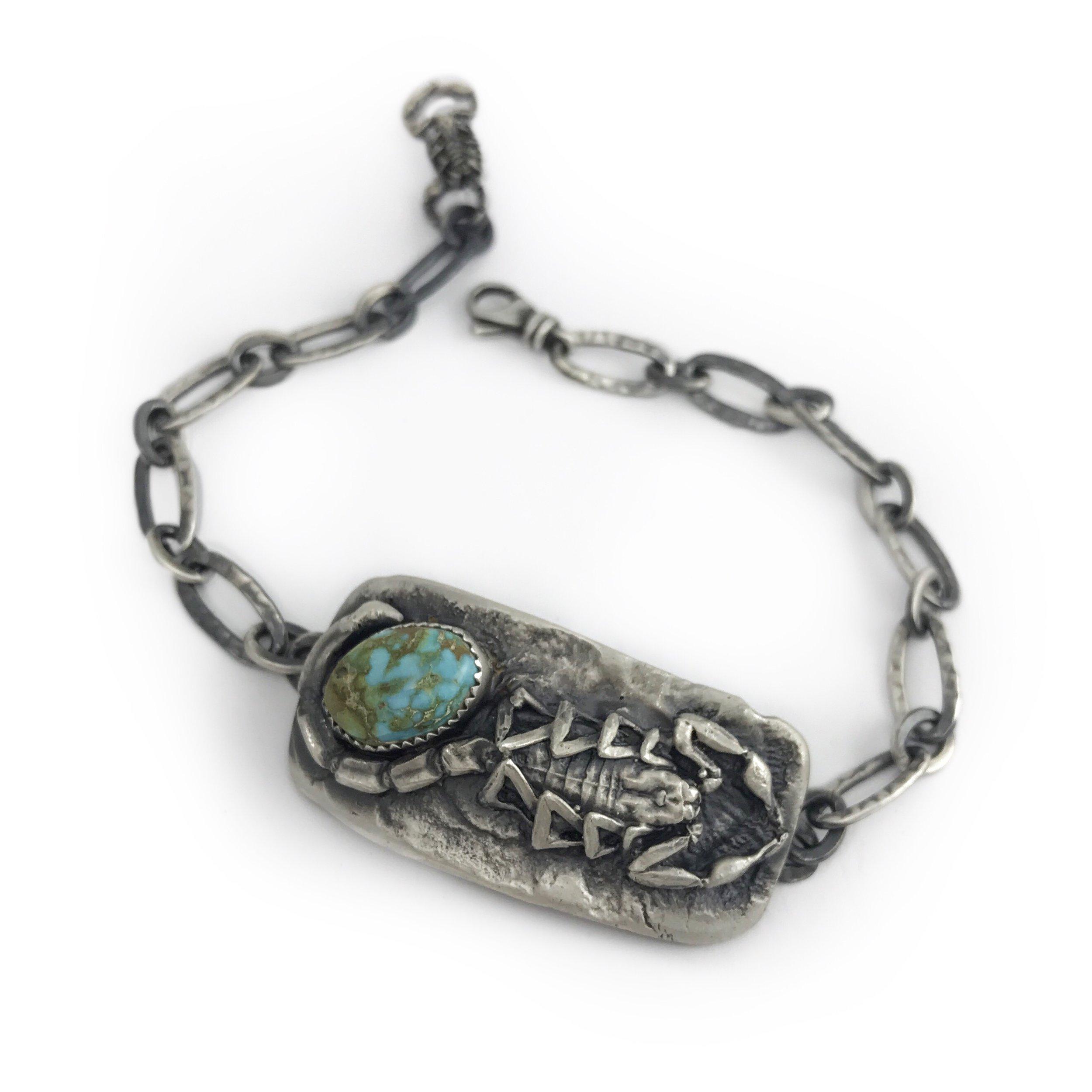 Scorpion Turquoise  ID Bracelet
