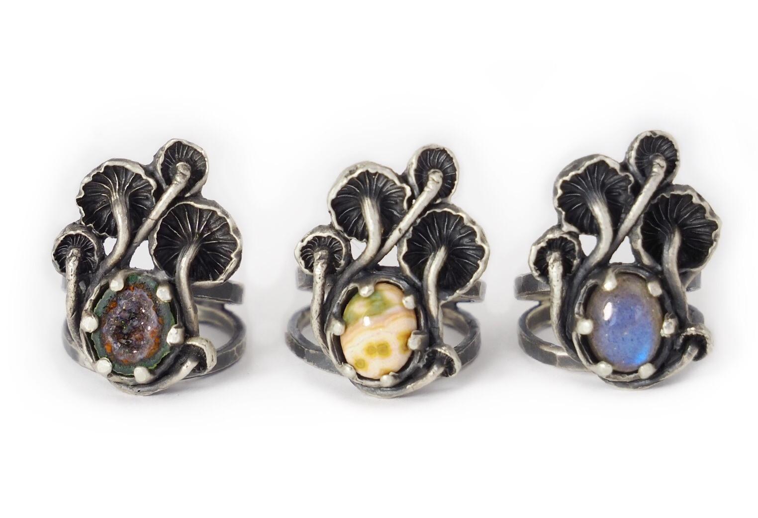 Mushroom Stone Ring
