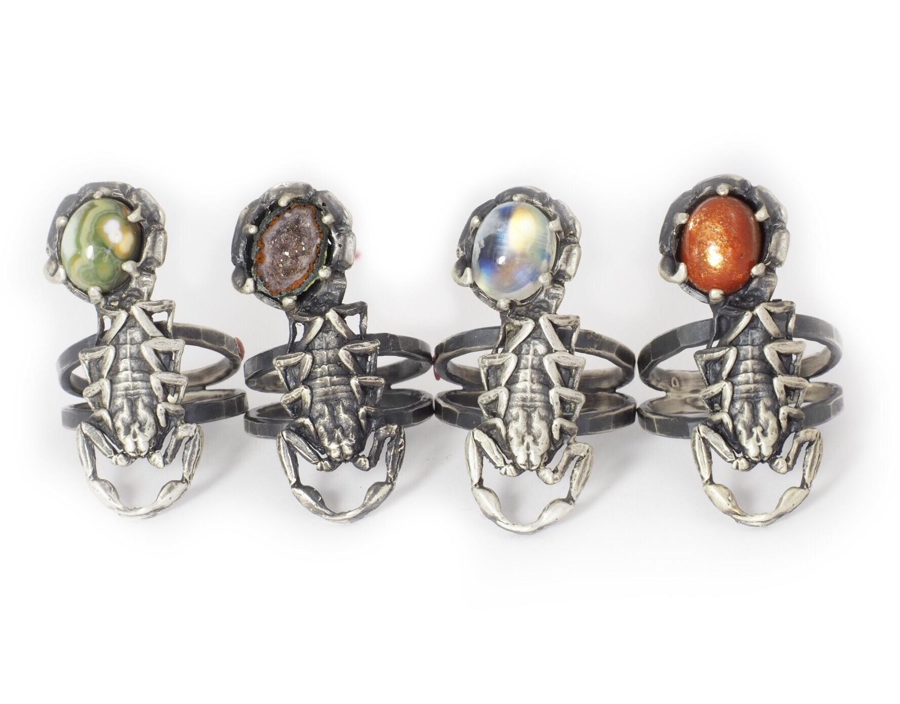 Scorpion Stone Ring