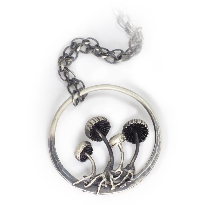 Mushroom Hoop Necklace