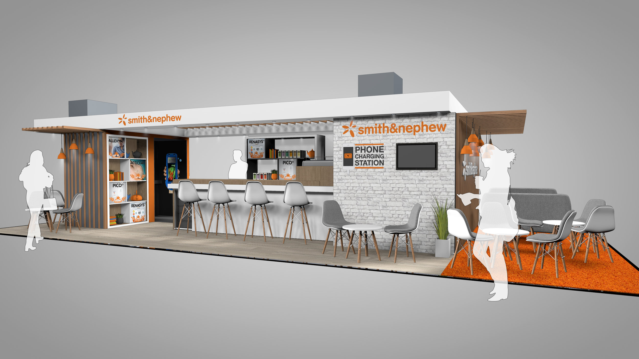 Smith and Nephew Exhibition Stand - Cafe Side