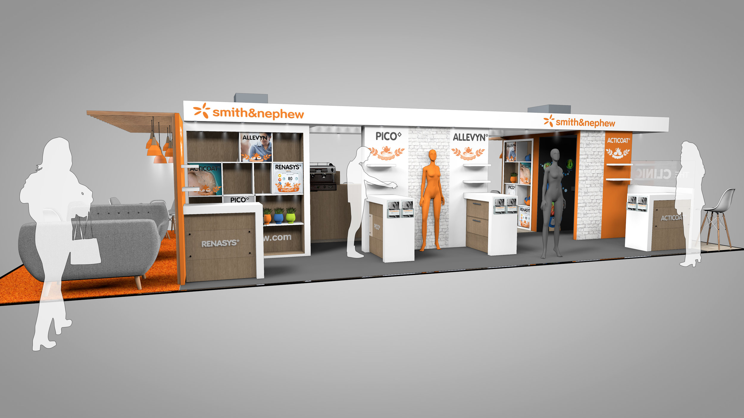 Smith and Nephew Exhibition Stand - Demonstration Side