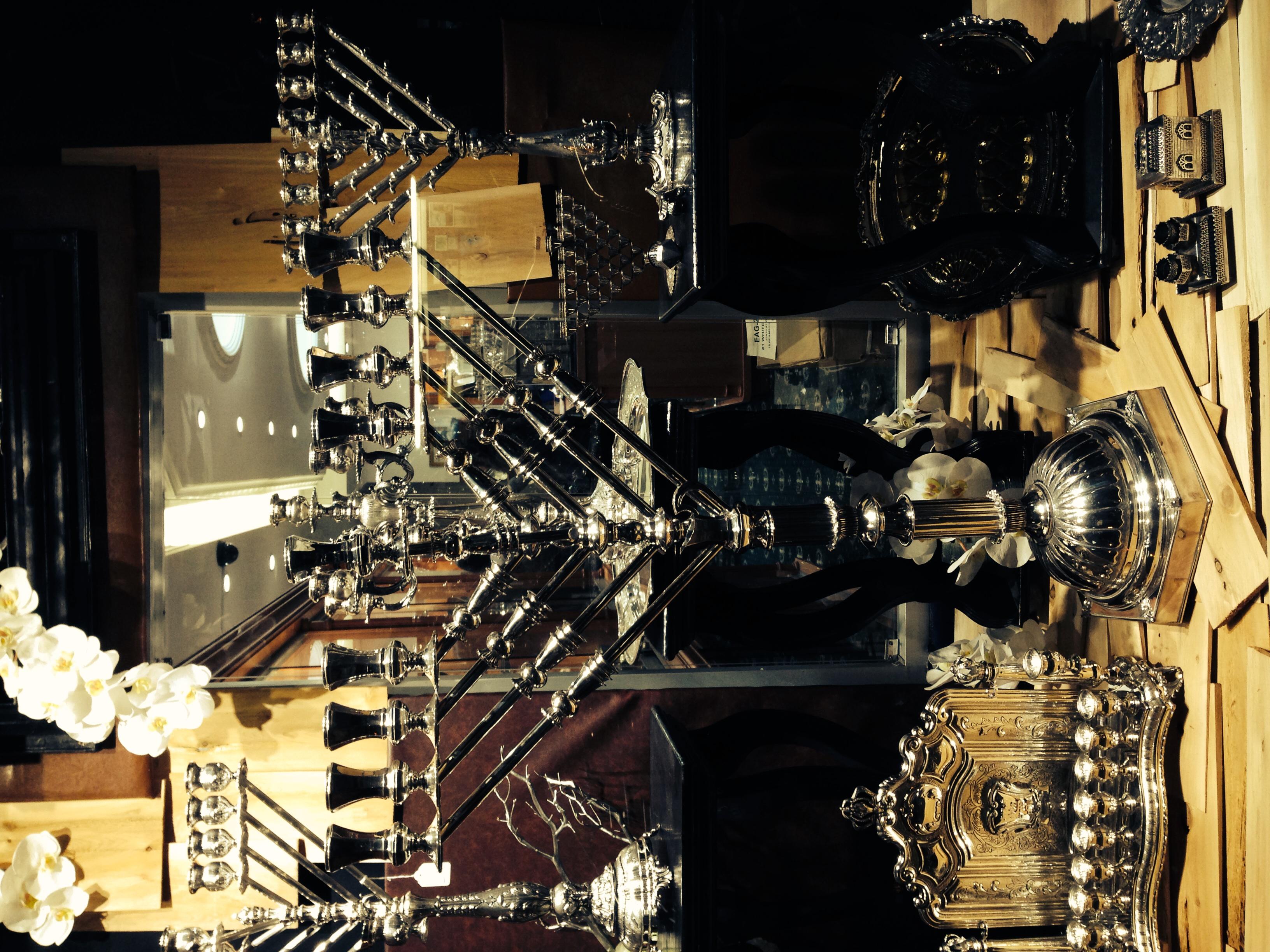 Elite Sterling Silver Stores beautiful Menorah display!