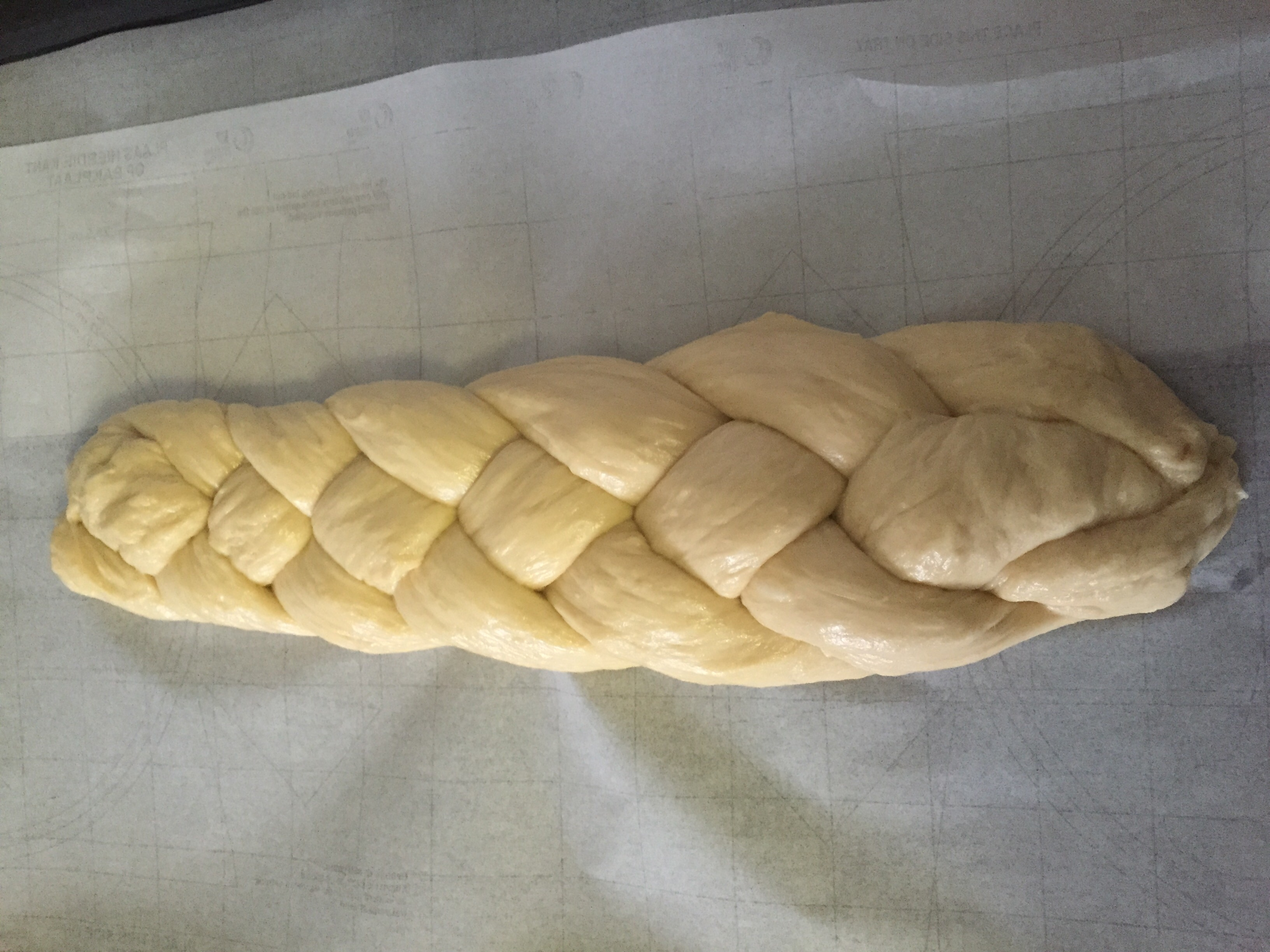 Step 1: Make a four braided Challah