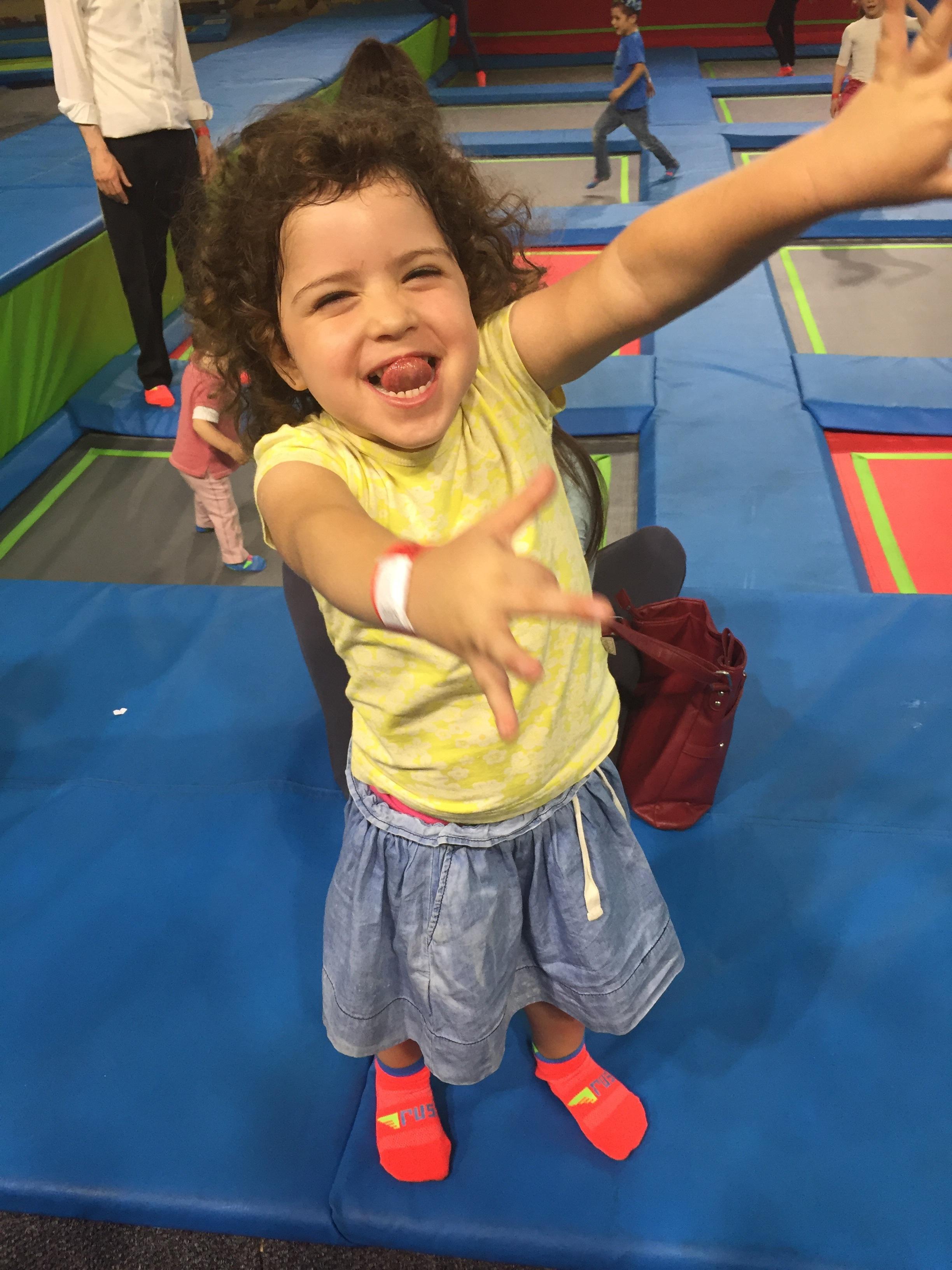 Laya having fun at Rush!
