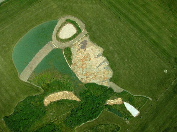 Amelia Earhart earthworks by Stan Herd.Photo credit: Robert John Morrow