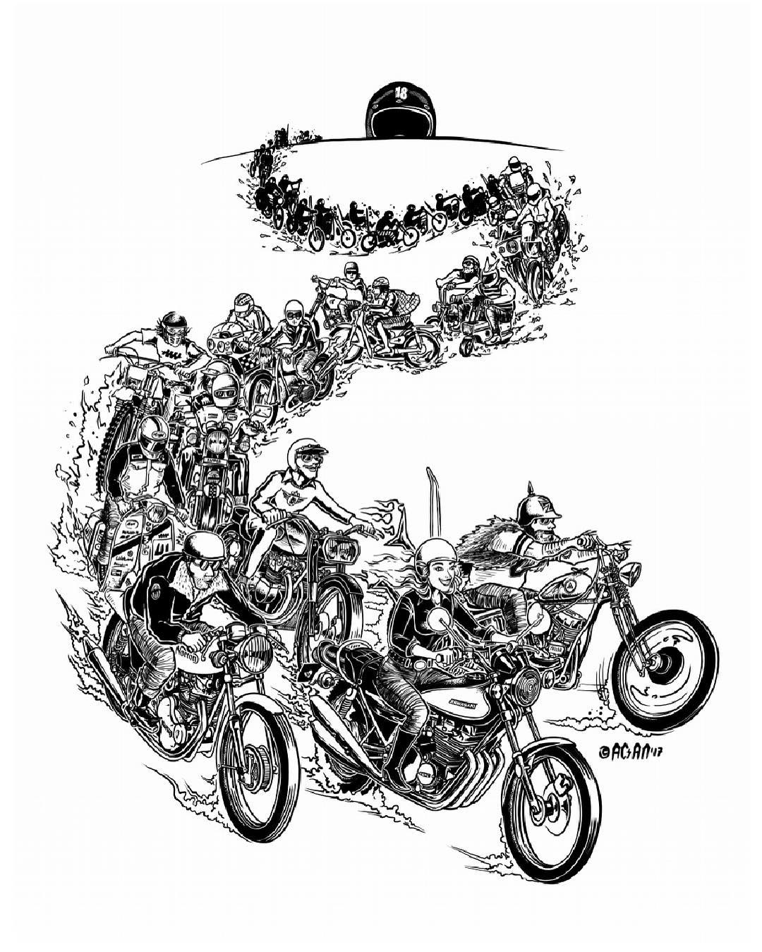 Illustration by  King Acan for the Machine Show