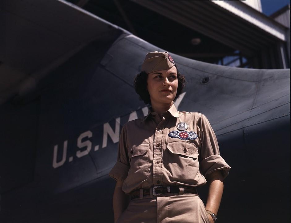 Eloise J. Ellis at Naval Airbase Corpus Christi, Texas. Photographer: Howard R. Hollem