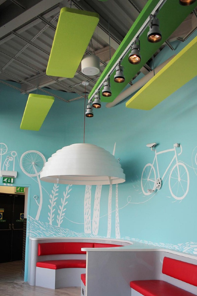 Kate Hazell Pizza Express Mural