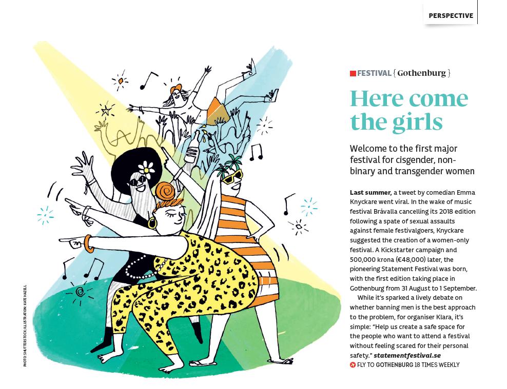Illustration for binspired magazine August 2018 issue