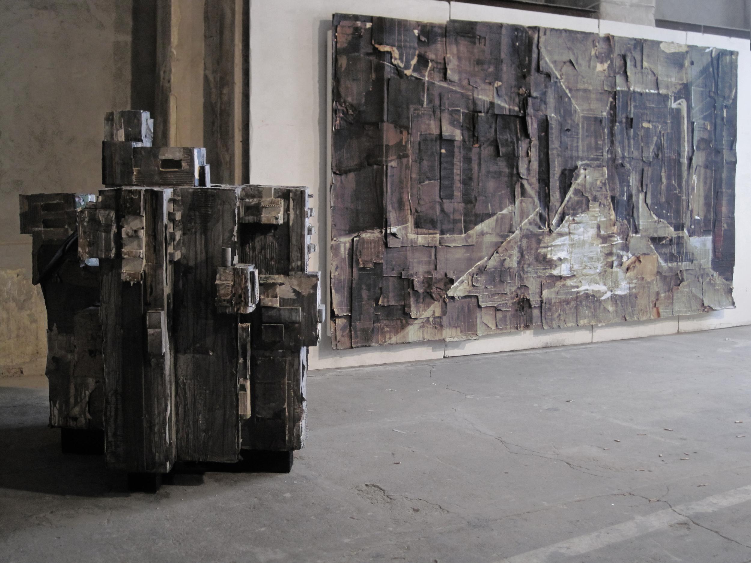 Aldo van den Broek_2012_Exhibition view_Studio Show_Graues Herz_Tunnel.jpg