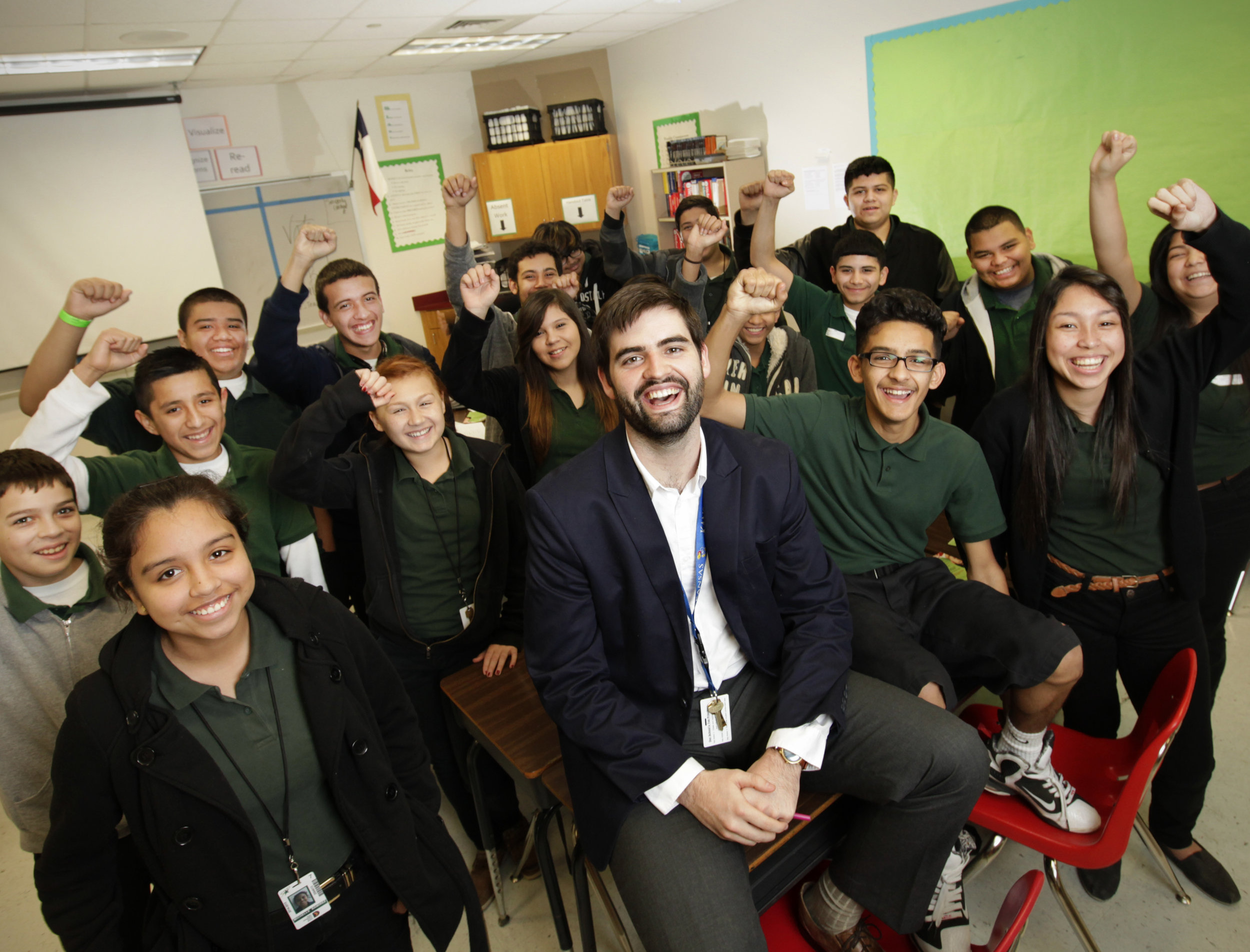 Thom Browne and his Quintanilla Middle School students.jpg