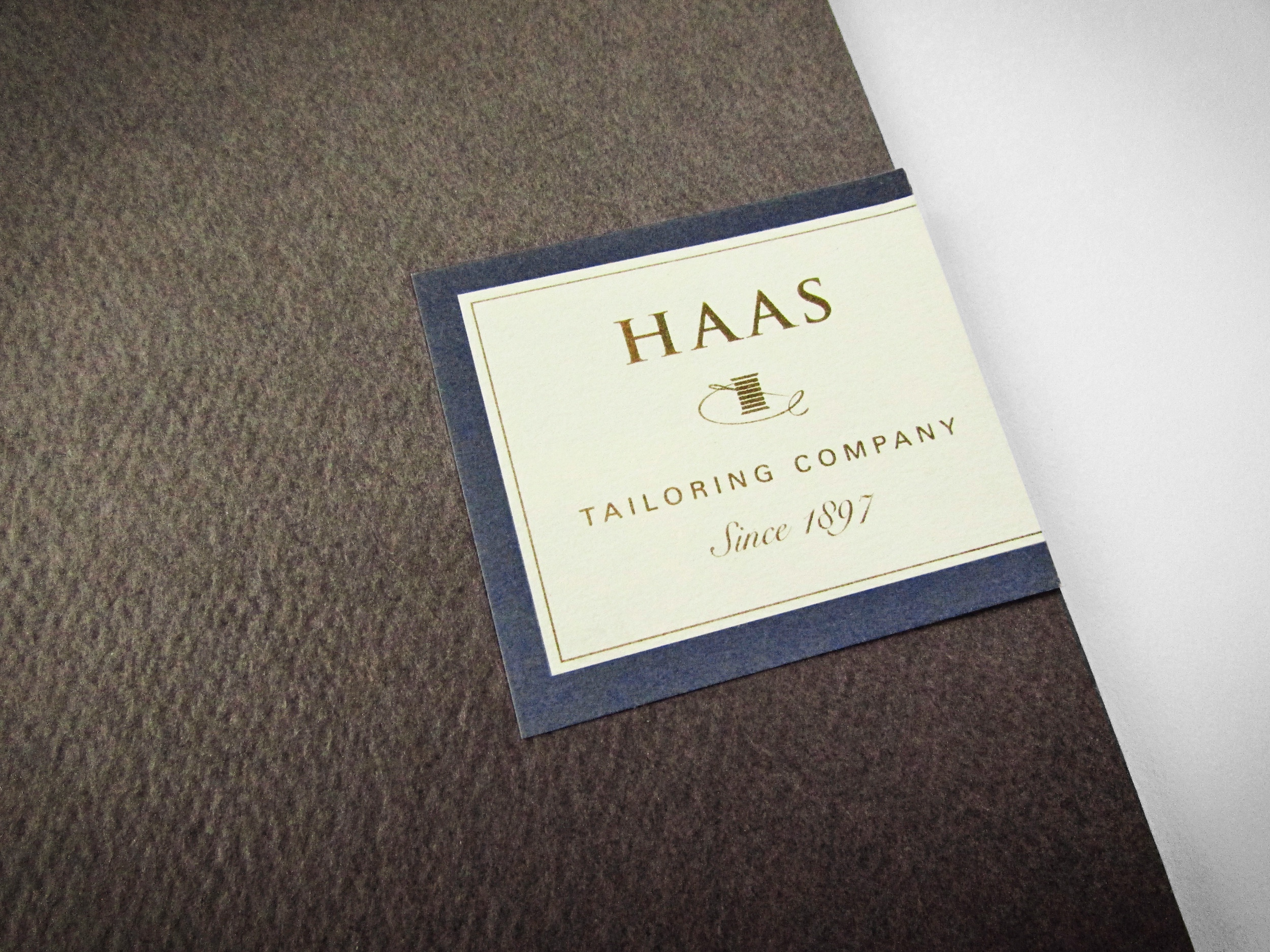 Haas Tailoring Company - Brand Identity and Marketing Collateral
