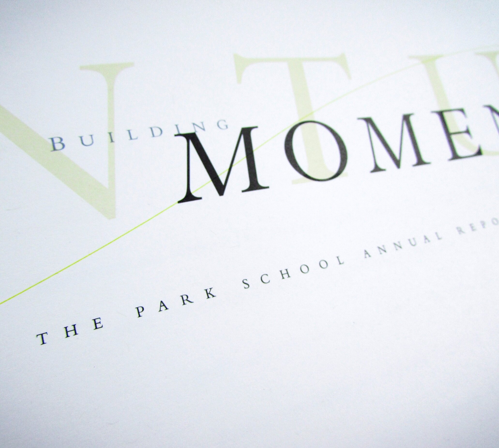 The Park School - Building Momentum Annual Report
