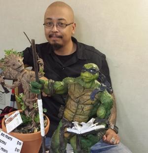 Pete Tapang shows off his phenomenal work.