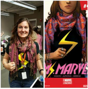 Cyndi even cosplayed as the great  Ms. Marvel !