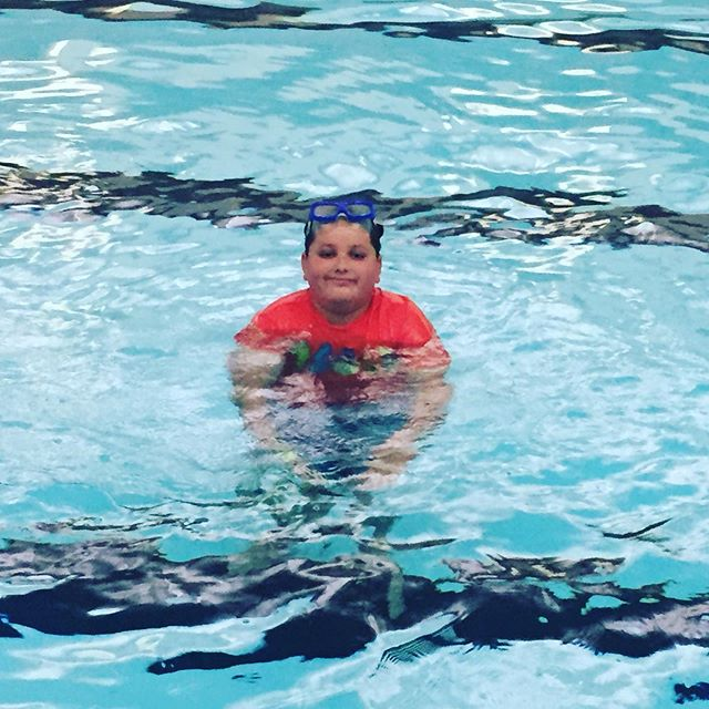 What do you do when the summer sky is cloudy?  Come swim at the Y, of course!  #cloudyday #swimming #summerfun #chillimo #grandrivery