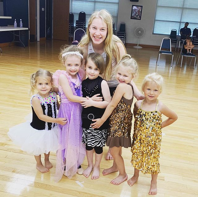 Miss Carly brought a little extra to dance class tonight!  #dance #dressup #stars #grandrivery