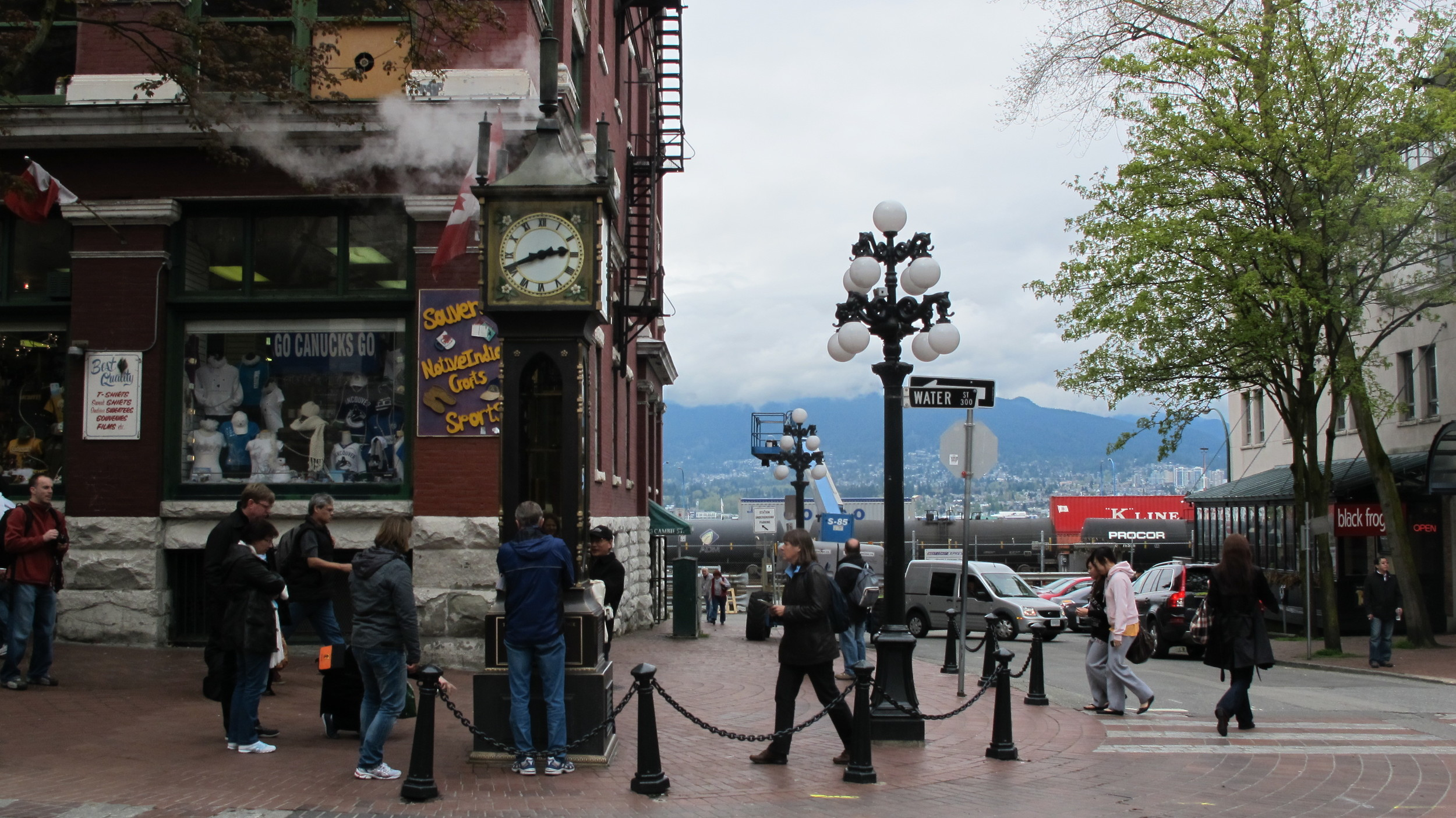 The steam clock in Gastown, one of Vancouver's oldest neighborhoods