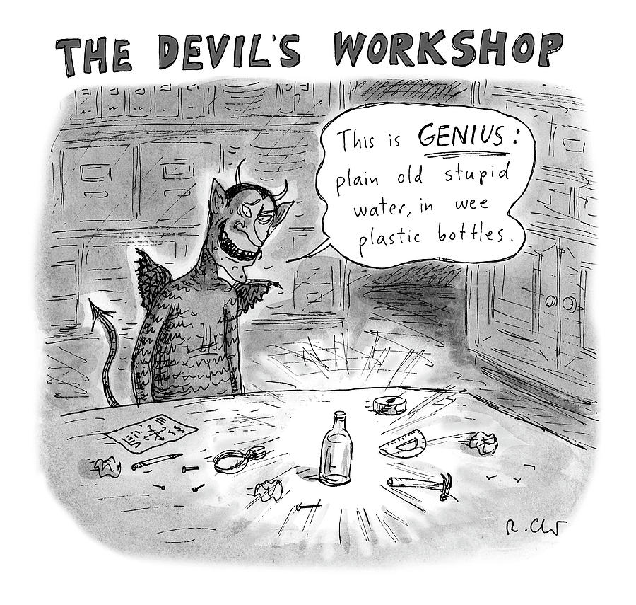 The Devils Workshop Drawing by Roz Chast - The New Yorker Dec 17, 2018 issue