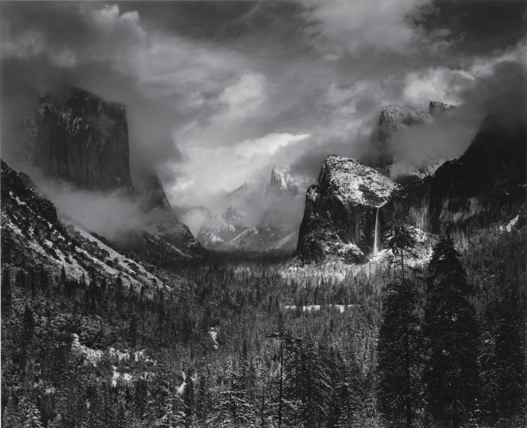 Ansel Adams,  Clearing Winter Storm, Yosemite National Park, California  (1938).  Image courtesy of Christie's Images Ltd. 2017.