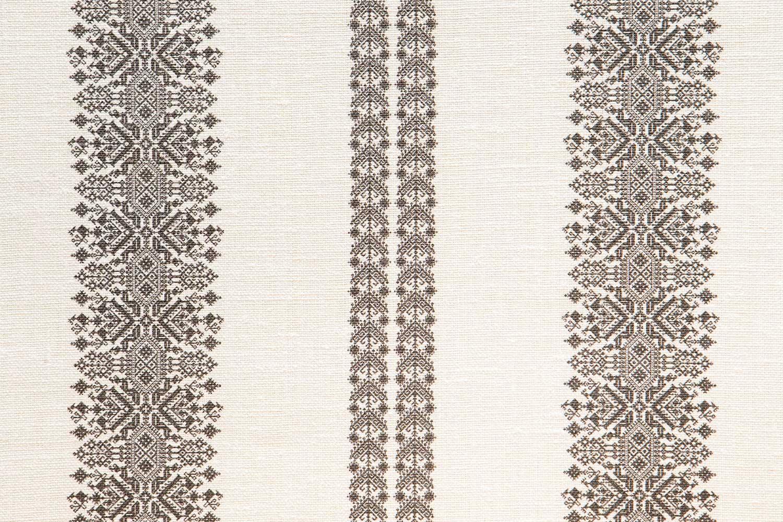 Abbot Atlas cycladic stripe stone fabric linen printed