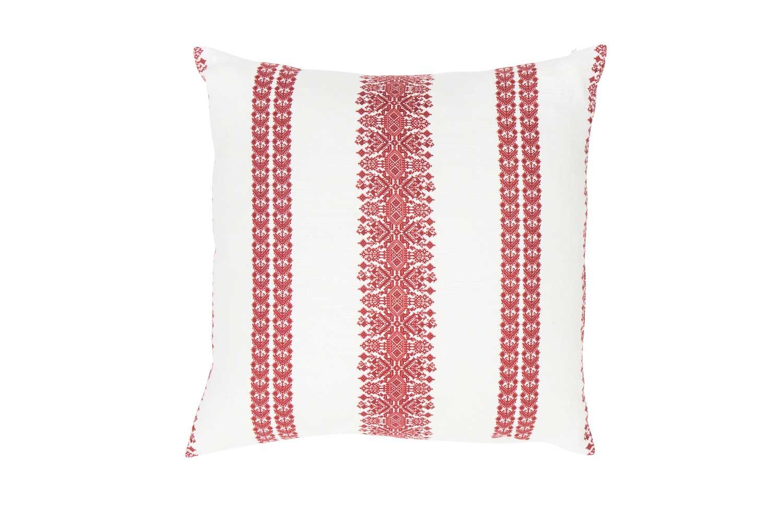 Abbot Atlas cycladic stripe red fabric linen printed pillow cushion