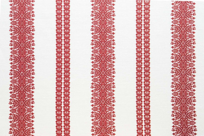 Abbot Atlas cycladic stripe red fabric linen printed
