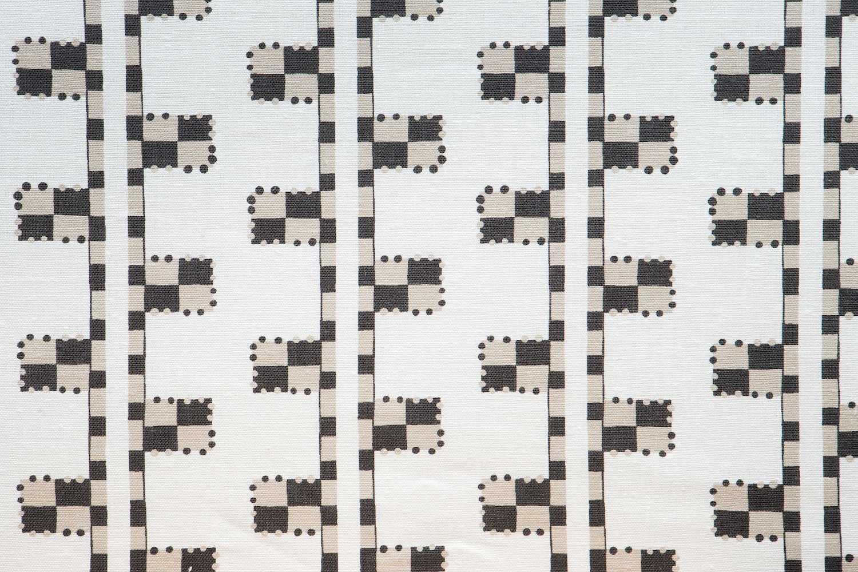 Abbot Atlas karpathos ladder stone fabric linen printed
