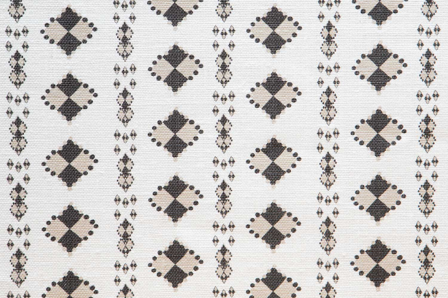 Abbot Atlas karpathos diamond stone fabric linen printed