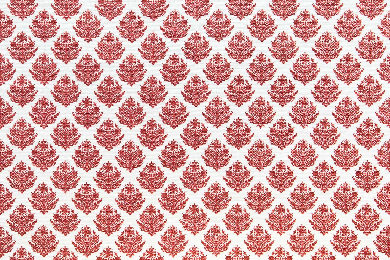 Abbot Atlas dixos red fabric linen printed